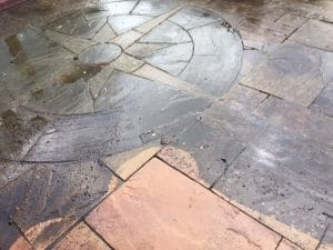 Patio Cleaning Before Pressure Washing
